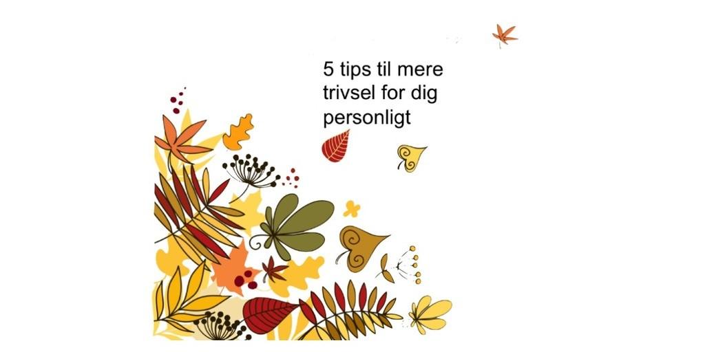 5 tips til mere trivsel til dig personligt - NytPerspektiv Mari-Ann Stavnshøj